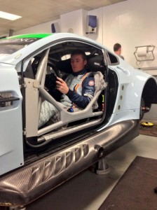 Richie Stanaway - REAL race seat insert - Aston Martin Racing - WEC